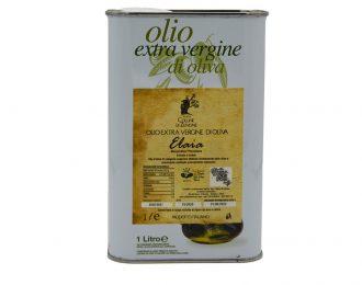 Elaia – Olio Extravergine Monocultivar Pisciottana – Lattina 1 Lt
